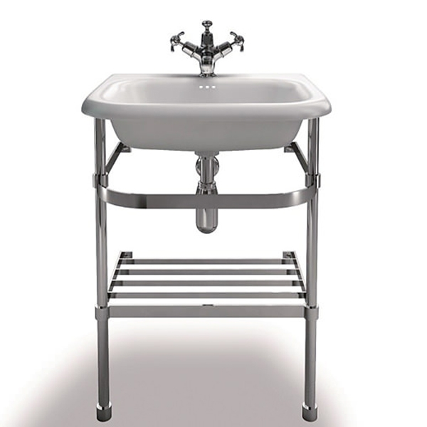 Burlington Traditional Natural Stone Basin and Wash Stand, 550mm Wide, 0 Tap Hole