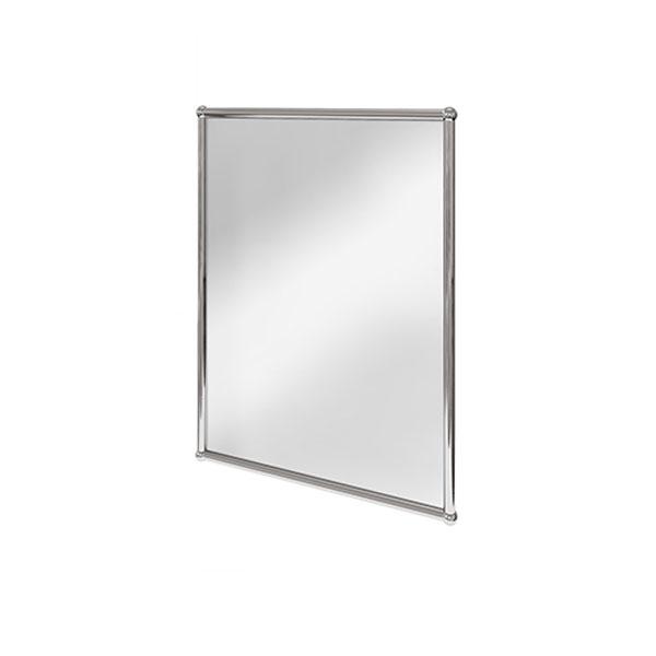 Burlington Traditional Rectangular Bathroom Mirror, 700mm High x 500mm Wide, Chrome
