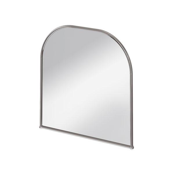 Burlington Traditional Curved Bathroom Mirror, 700mm High x 700mm Wide, Chrome