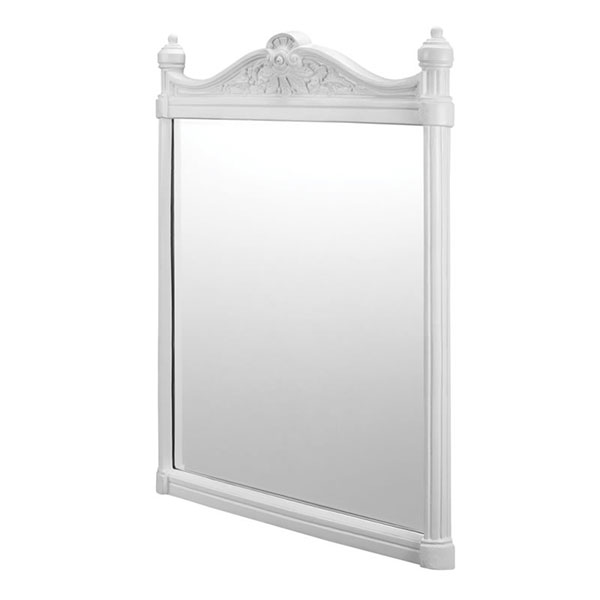 Burlington Traditional Framed Bathroom Mirror, 750mm High x 553mm Wide, White