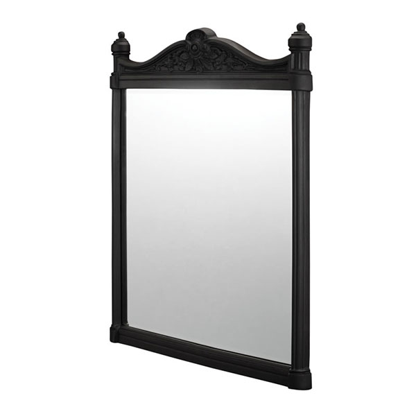 Burlington Traditional Framed Bathroom Mirror, 750mm High x 553mm Wide, Black