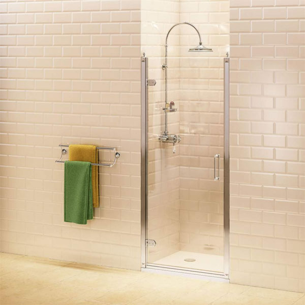 Burlington Traditional Hinged Shower Door, 760mm Wide, 8mm Glass-0
