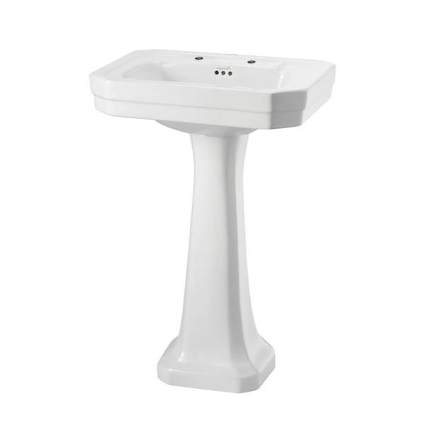 Burlington Victorian Basin with Regal Full Pedestal, 560mm Wide, 2 Tap Hole