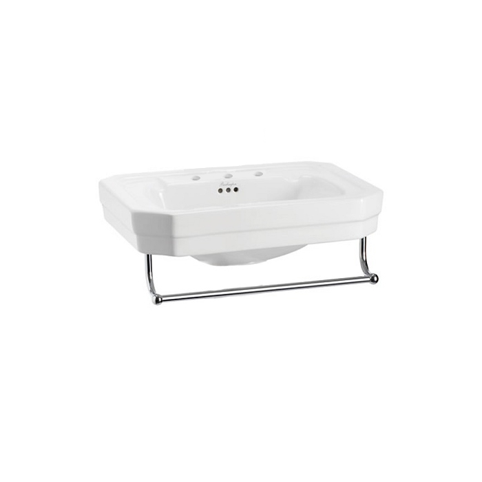 Burlington Victorian Basin with Towel Rail, 560mm Wide, 3 Tap Hole