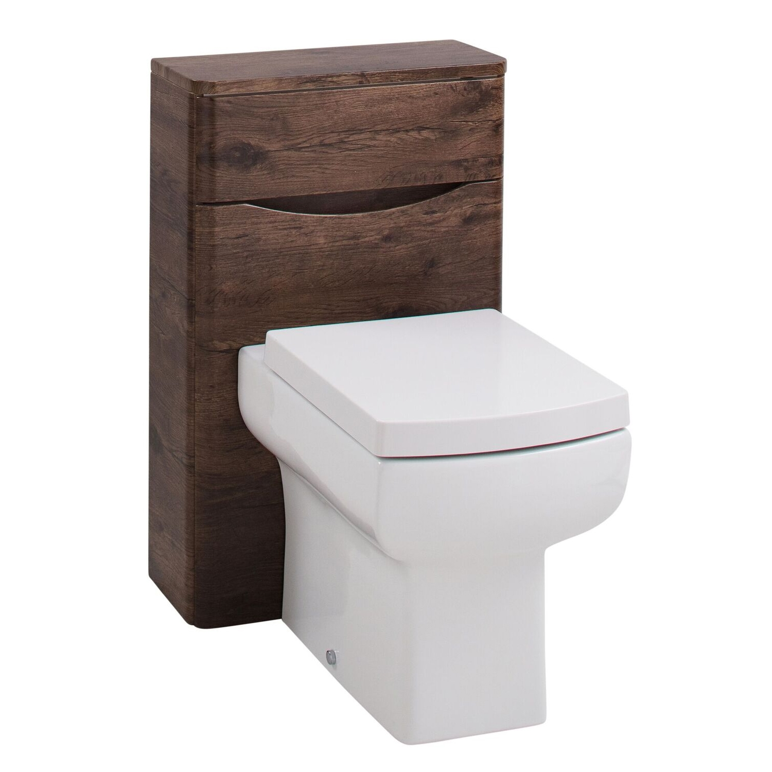 Cali Bali Back to Wall WC Unit - 500mm Wide - Chestnut
