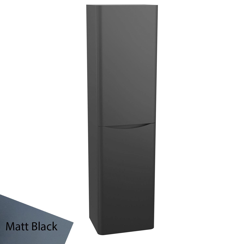 Cali Bali Wall Hung Tall Storage Unit - 400mm Wide - Matt Black