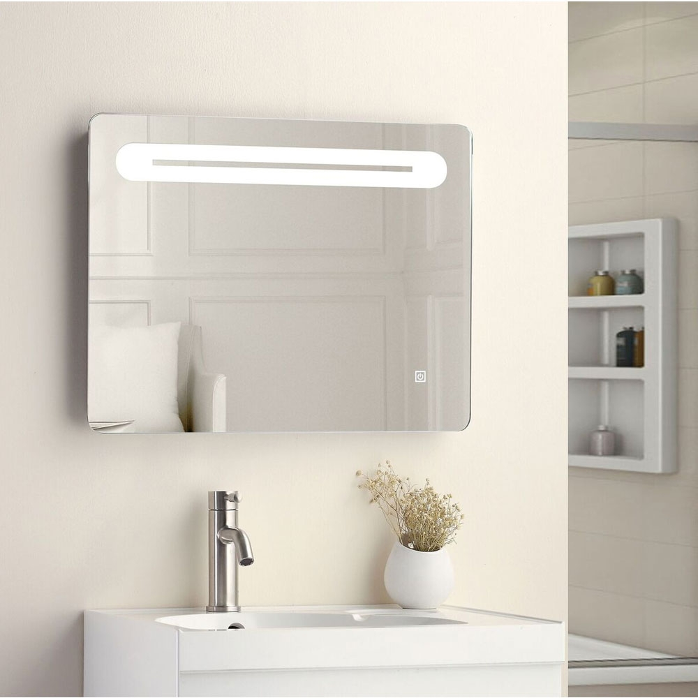 Cali Touch Sensitive LED Bathroom Mirror 650mm W x 500mm H with De-mister Pad
