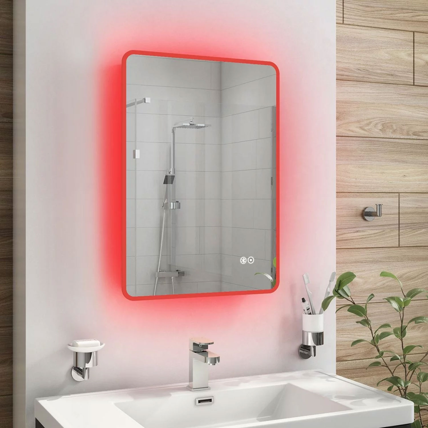 Cali Touch Sensitive LED Bathroom Mirror 500mm W x 700mm H with De-mister Pad
