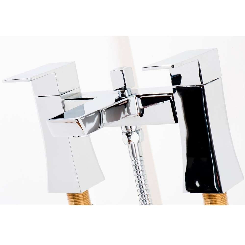 Cali Carno Bath Shower Mixer Tap - Deck Mounted - Chrome-0