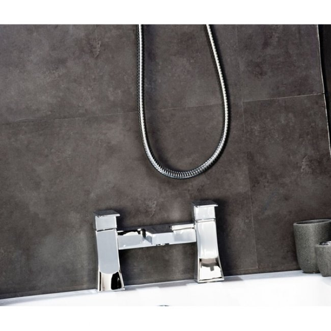 Cali Carno Bath Filler Tap - Deck Mounted - Chrome-1