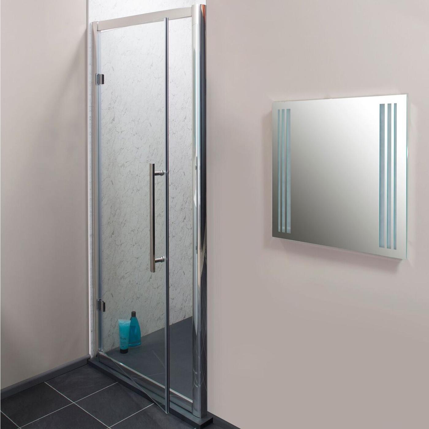 Cali Cass Eight Hinged Shower Door 900mm Wide - 8mm Glass