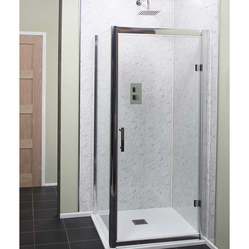 Cali Cass Six Hinged Shower Door 760mm Wide - 6mm Glass