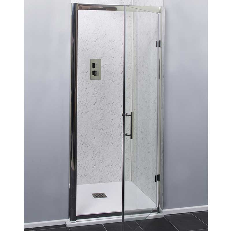 Cali Cass Six Hinged Shower Door 700mm Wide - 6mm Glass