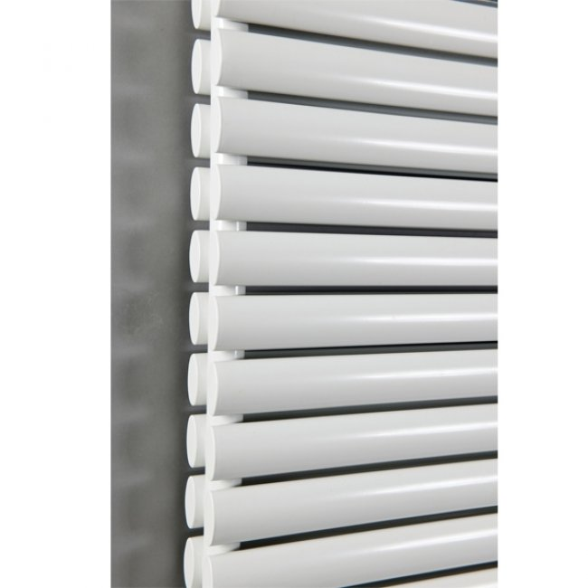 Cali Celsius Double Panel Designer Horizontal Radiator - 633mm High x 1180mm Wide - White-1