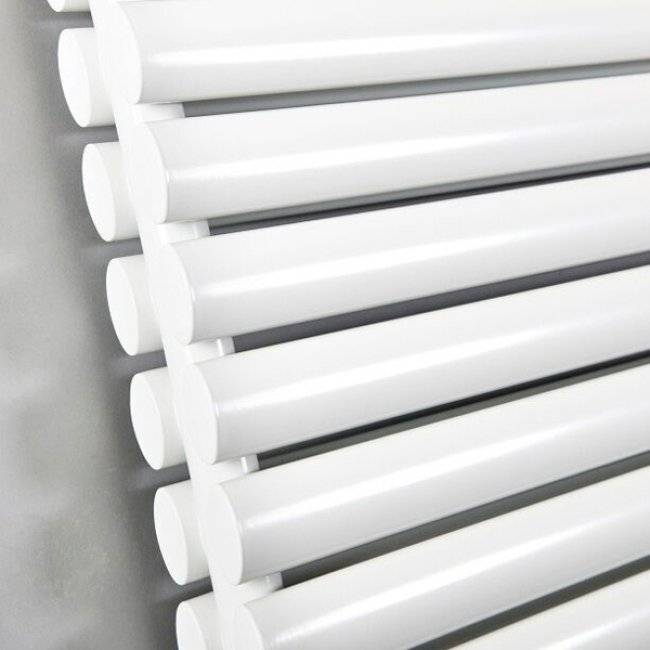 Cali Celsius Double Panel Designer Horizontal Radiator - 633mm High x 1180mm Wide - White-2