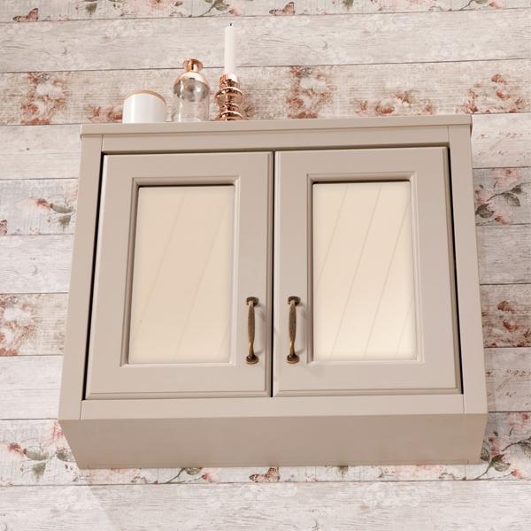 Cali Chartwell 2-Doors Wall Hung Mirror Cabinet - 700mm Wide - Mocha