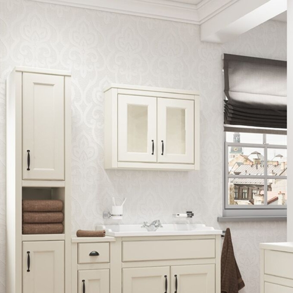 Cali Chartwell 2-Doors Wall Hung Mirror Cabinet - 700mm Wide - Vanilla