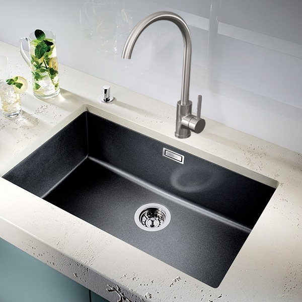 Cali Classic Single Lever Mono Kitchen Sink Mixer - Brushed