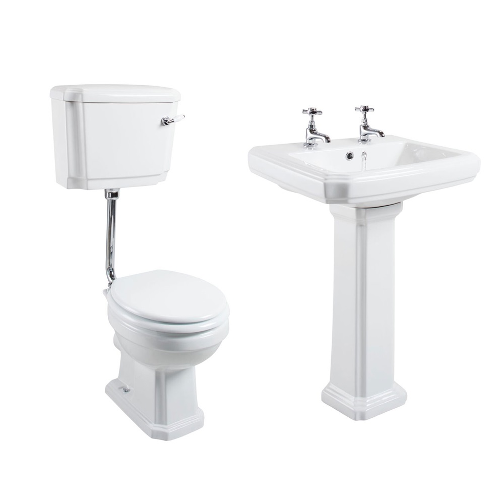Cali Cromford Traditional Bathroom Suite Low Level Toilet 2 Tap Hole