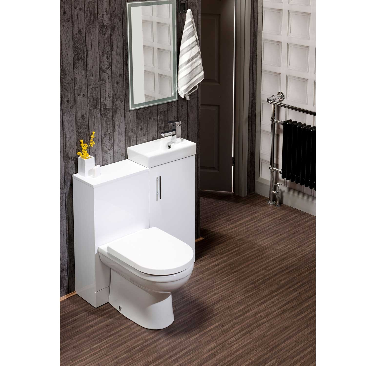 Cali Cube Back to Wall WC Unit - 410mm Wide - Gloss White