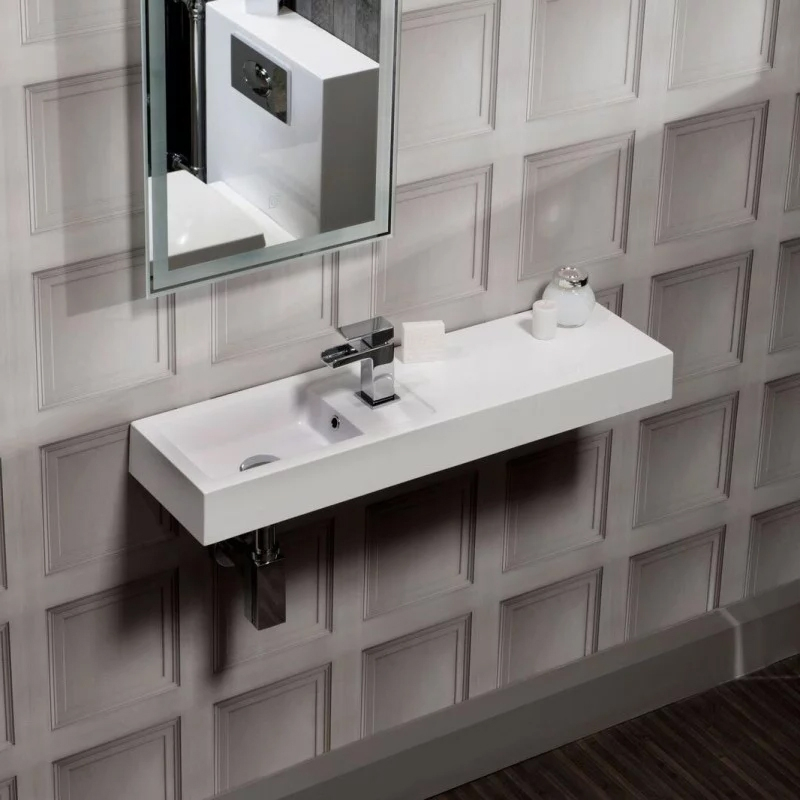 Cali Cube Plus Wall Hung Basin 800mm Wide - 1 Tap Hole-0
