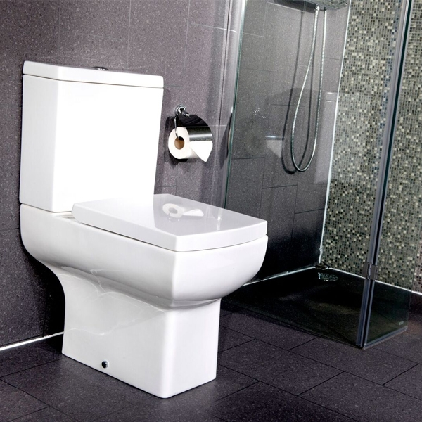 Cali Daisy Lou Close Coupled Toilet - Push Button Cistern - Soft Close Seat