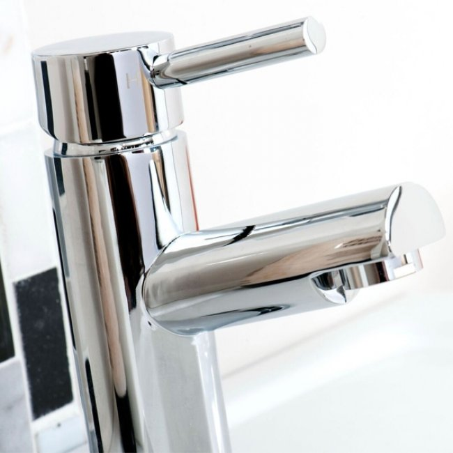 Cali Dalton Mono Basin Mixer Tap Deck Mounted with Click Clack Waste - Chrome