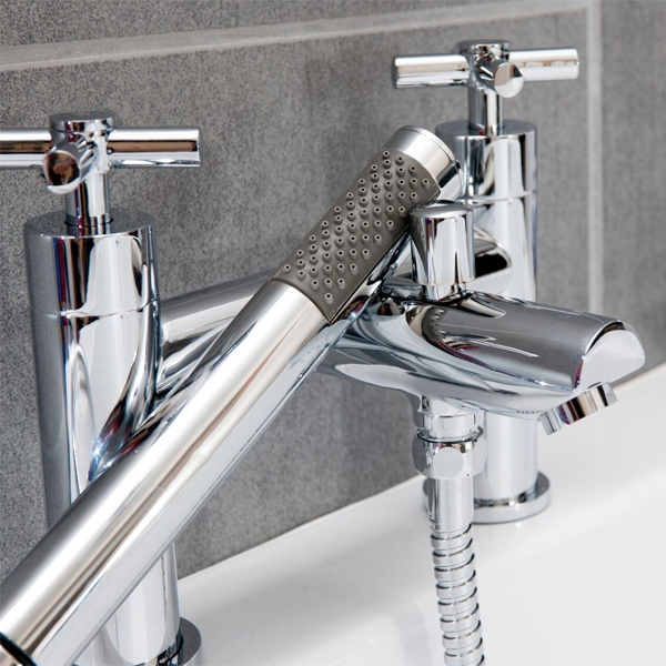 Cali Dune Bath Shower Mixer Tap - Deck Mounted - Chrome