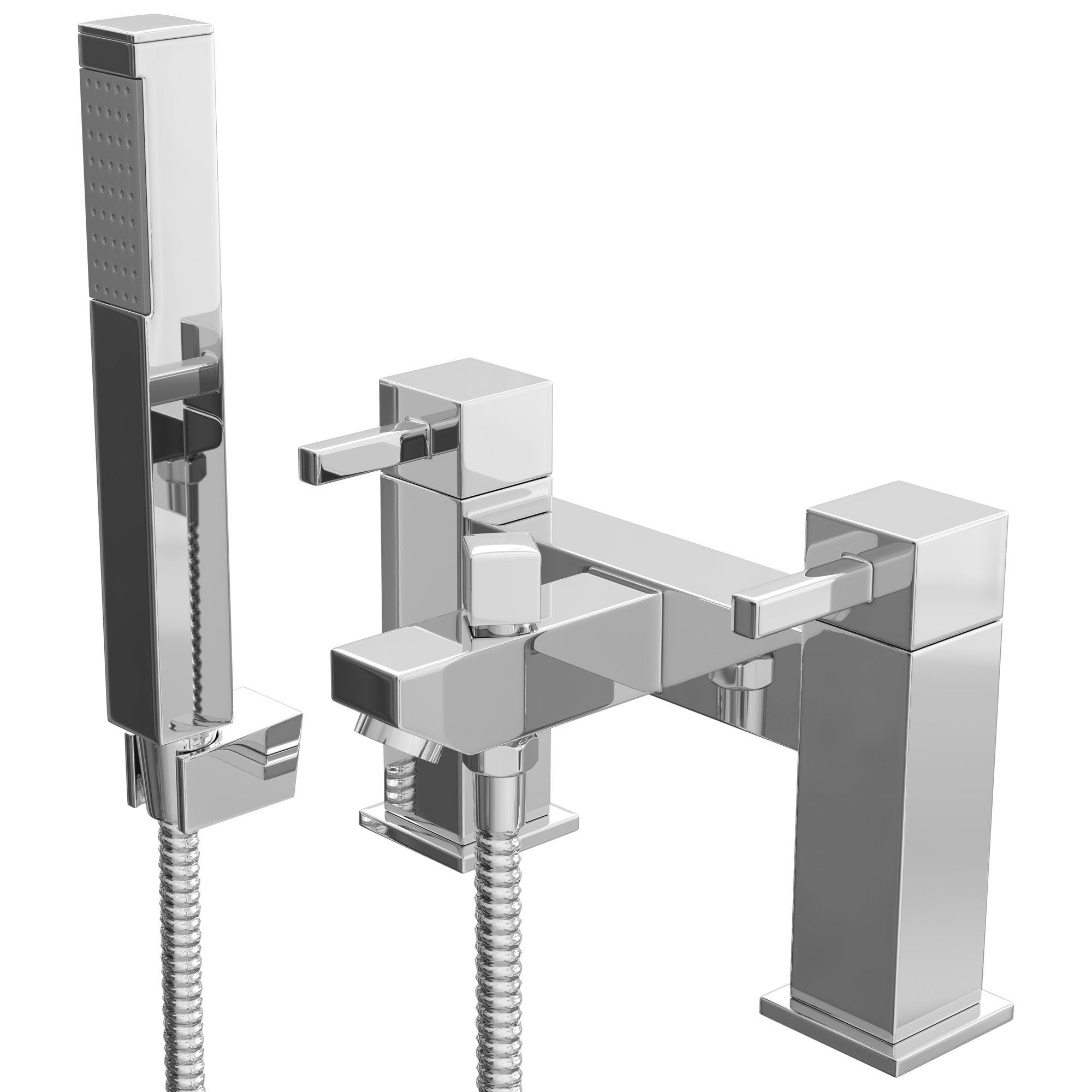 Cali Emperor Bath Shower Mixer Tap - Deck Mounted - Chrome-1