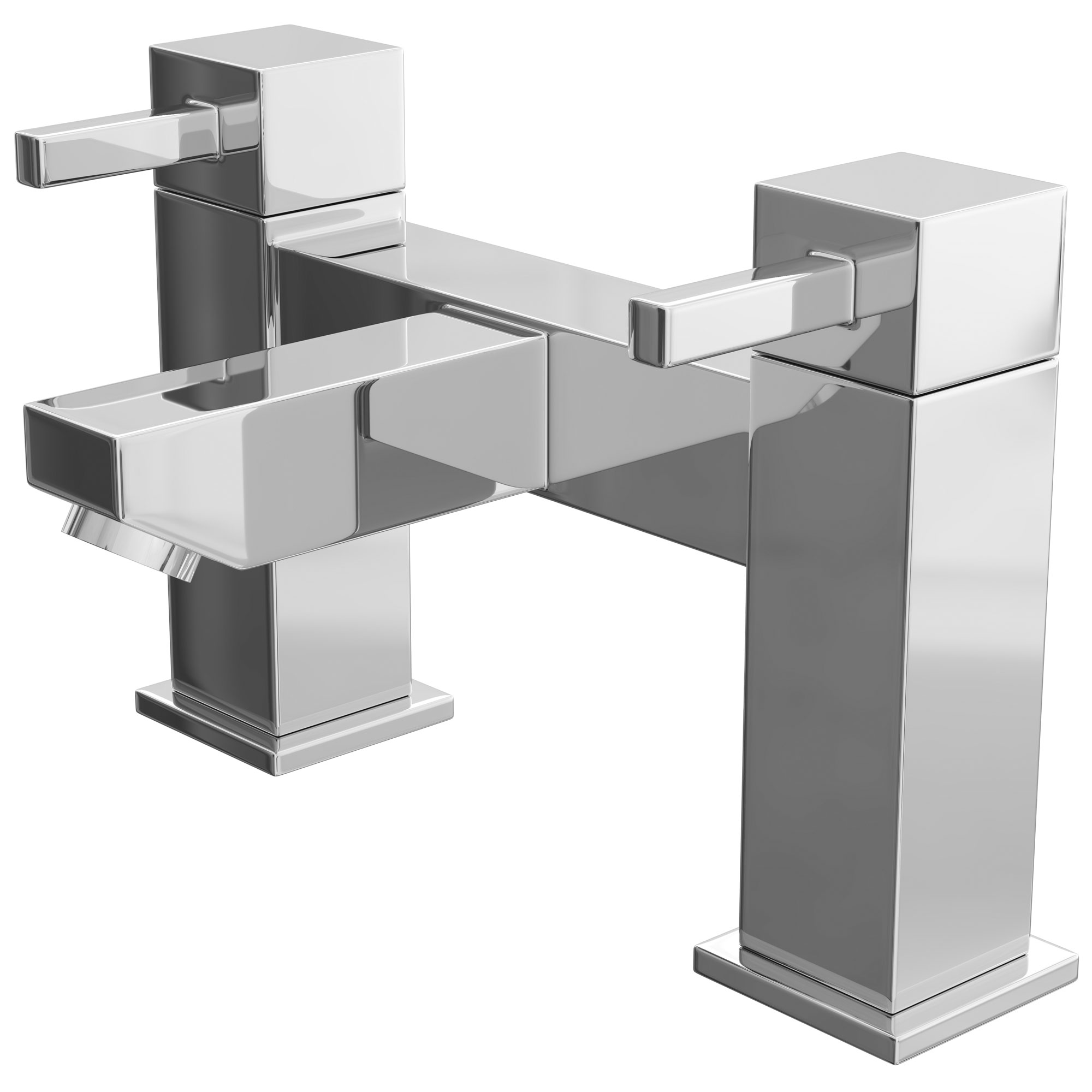 Cali Emperor Bath Filler Tap - Deck Mounted - Chrome-2