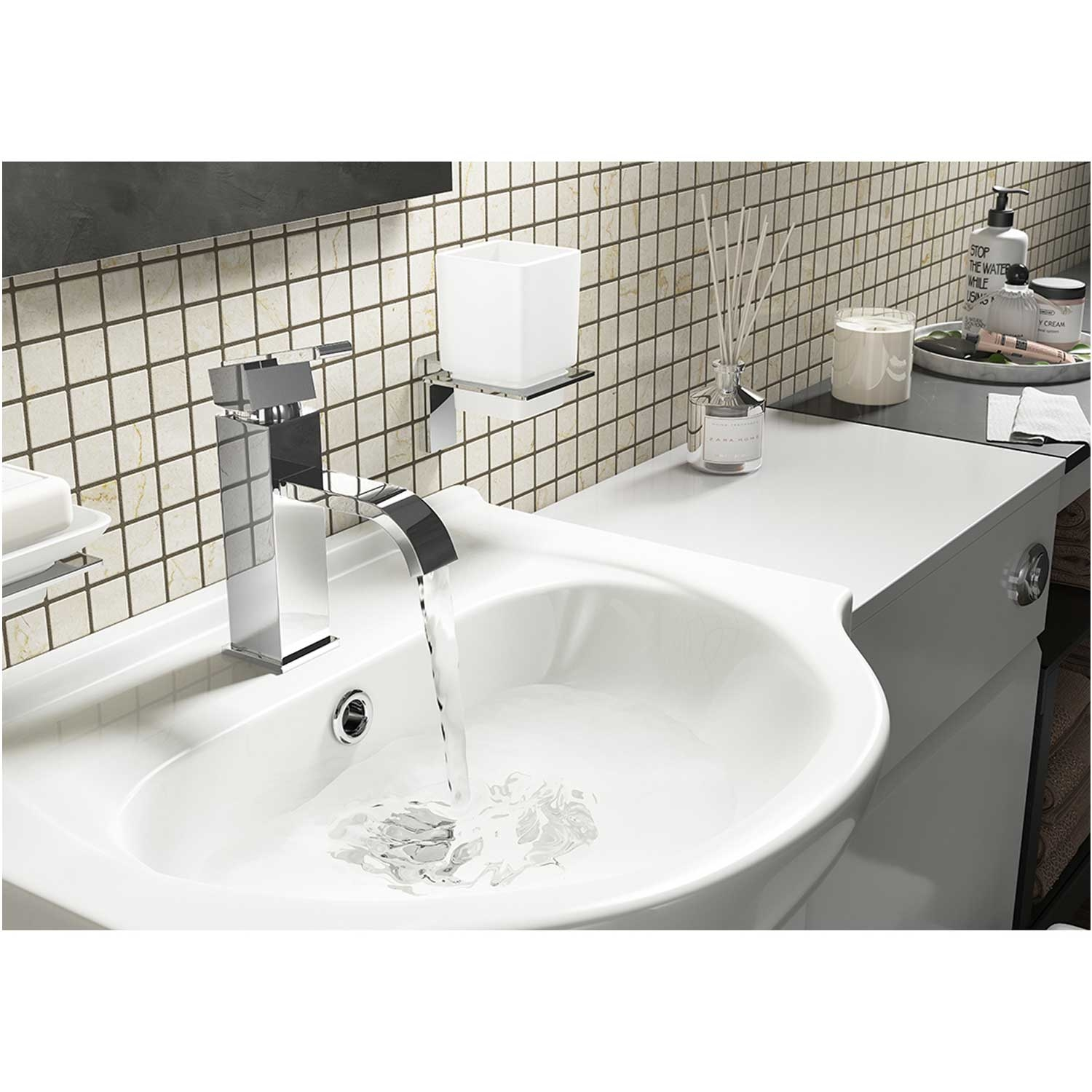 Cali Epic Mono Basin Mixer Tap Deck Mounted with Click Clack Waste - Chrome