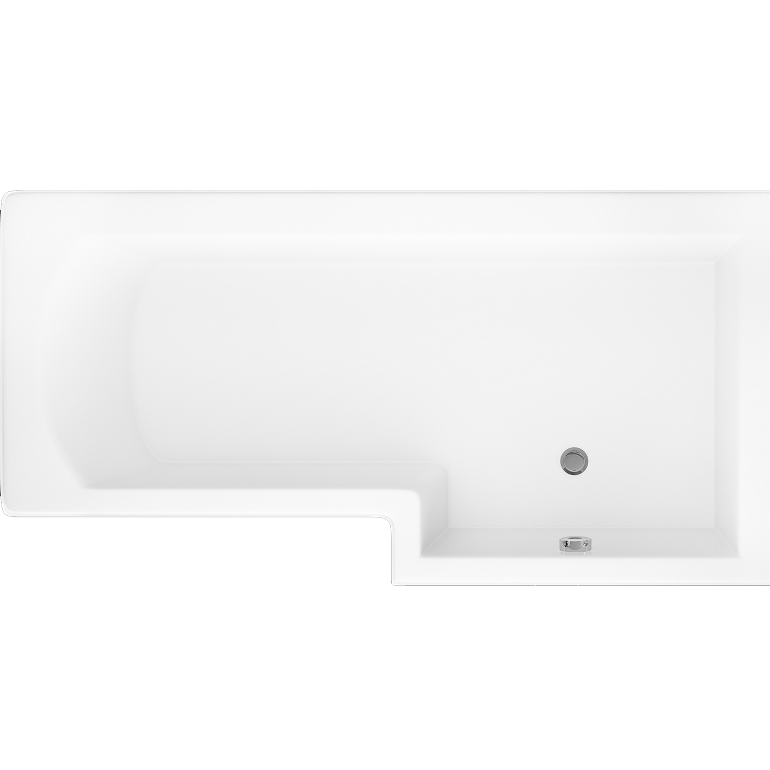 Cali Halle L-Shaped Shower Bath 1500mm x 700mm/850mm Right Handed-0