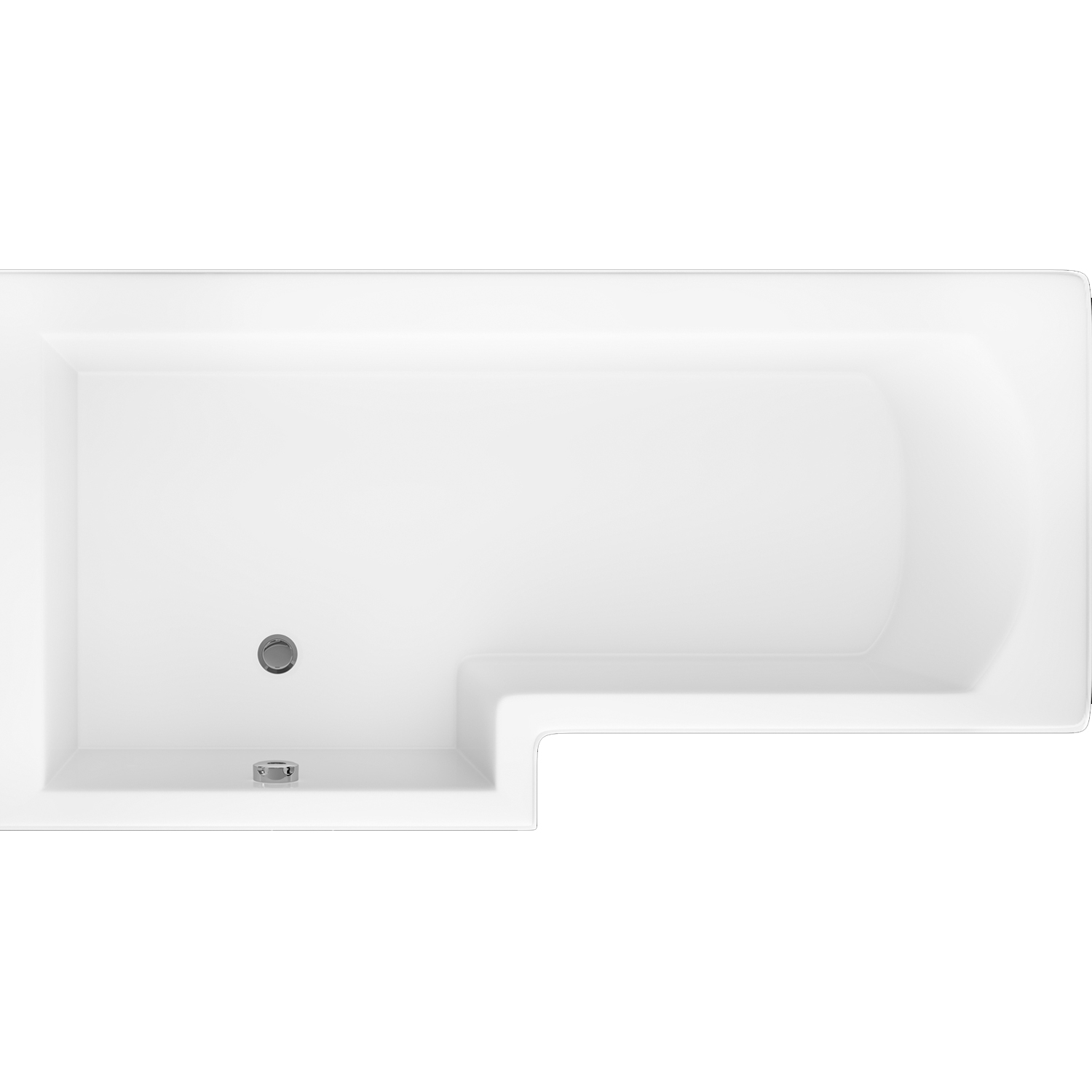 Cali Halle L-Shaped Shower Bath 1700mm x 700mm/850mm Left Handed