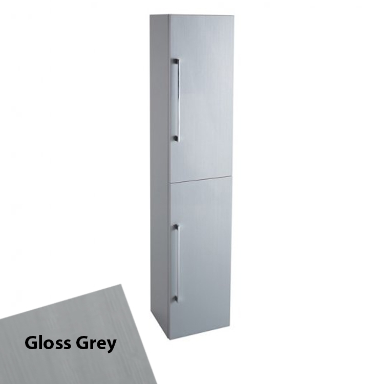 Cali Idon 2-Doors Wall Hung Tall Storage Unit - 300mm Wide - Grey