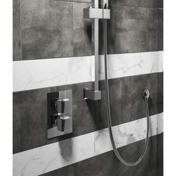 Cali Istria Square Concealed Shower Valve - Dual Handle - Chrome-1