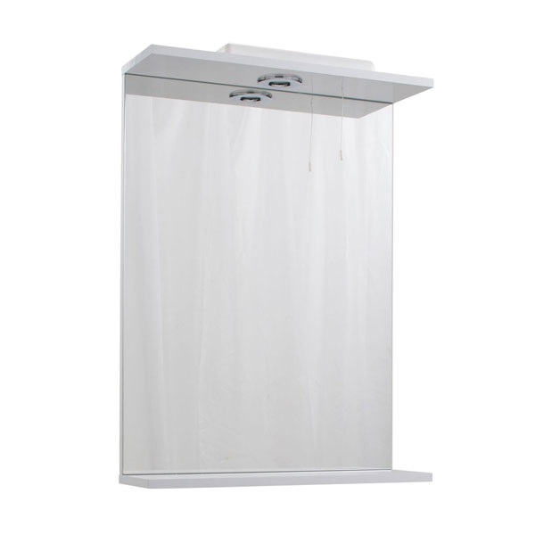 Cali Kass Mirror Unit and Lights - 550mm Wide - Gloss White-0