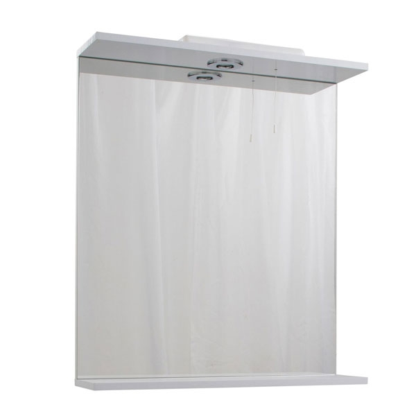 Cali Kass Mirror Unit and Lights - 650mm Wide - Gloss White