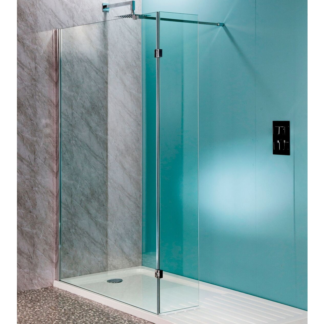 Cali Lana Easy Clean Wet Room Glass Panel 700mm Wide - 10mm Glass-0