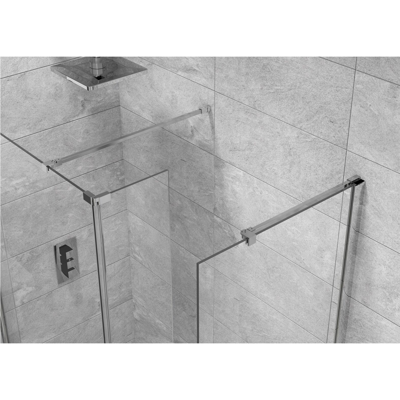 Cali Lana Easy Clean Wet Room Glass Panel 700mm Wide - 10mm Glass-4