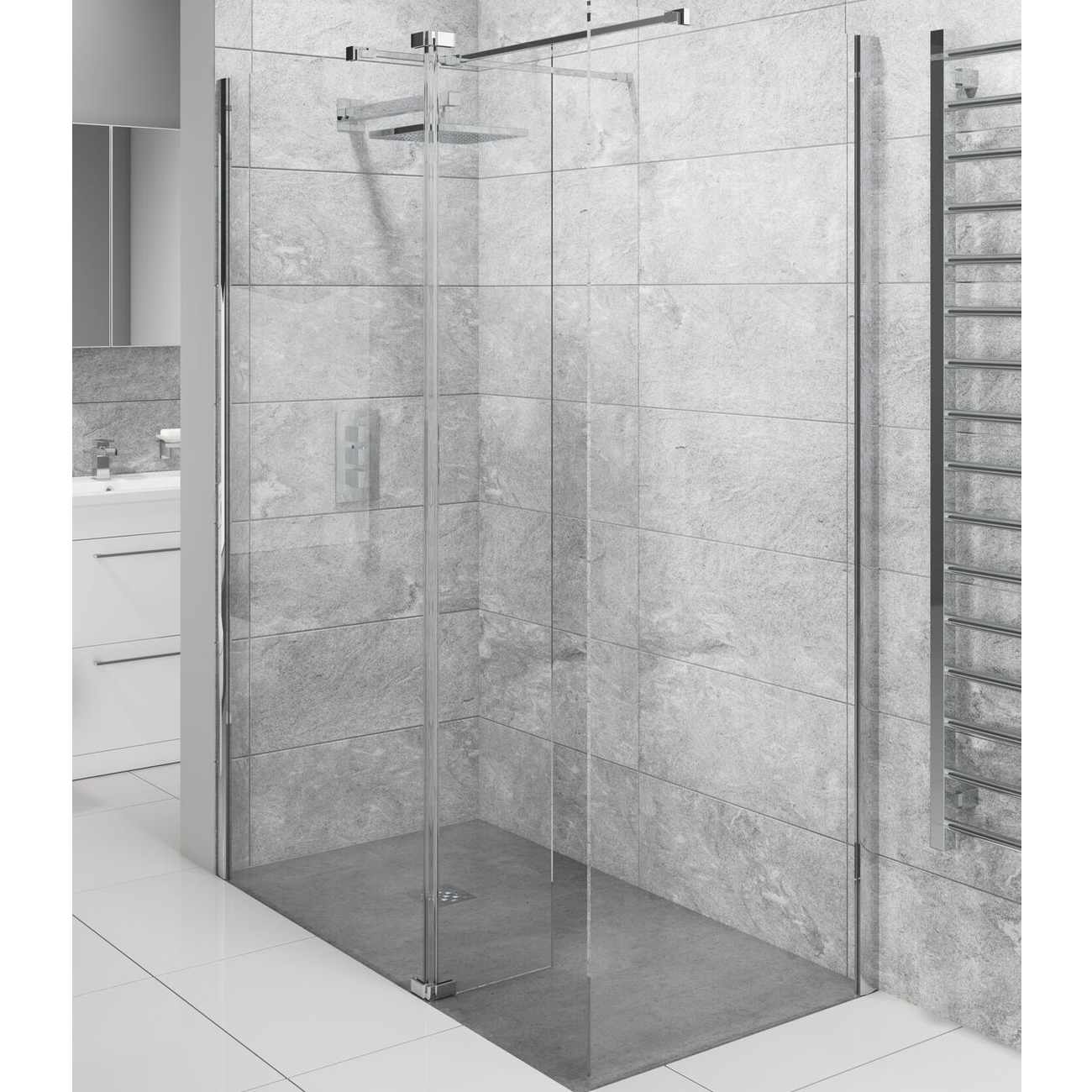 Cali Lana Easy Clean Wet Room Glass Panel 700mm Wide - 10mm Glass-5