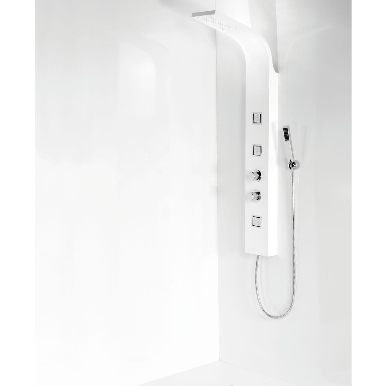 Cali Luna Thermostatic Shower Panel - White