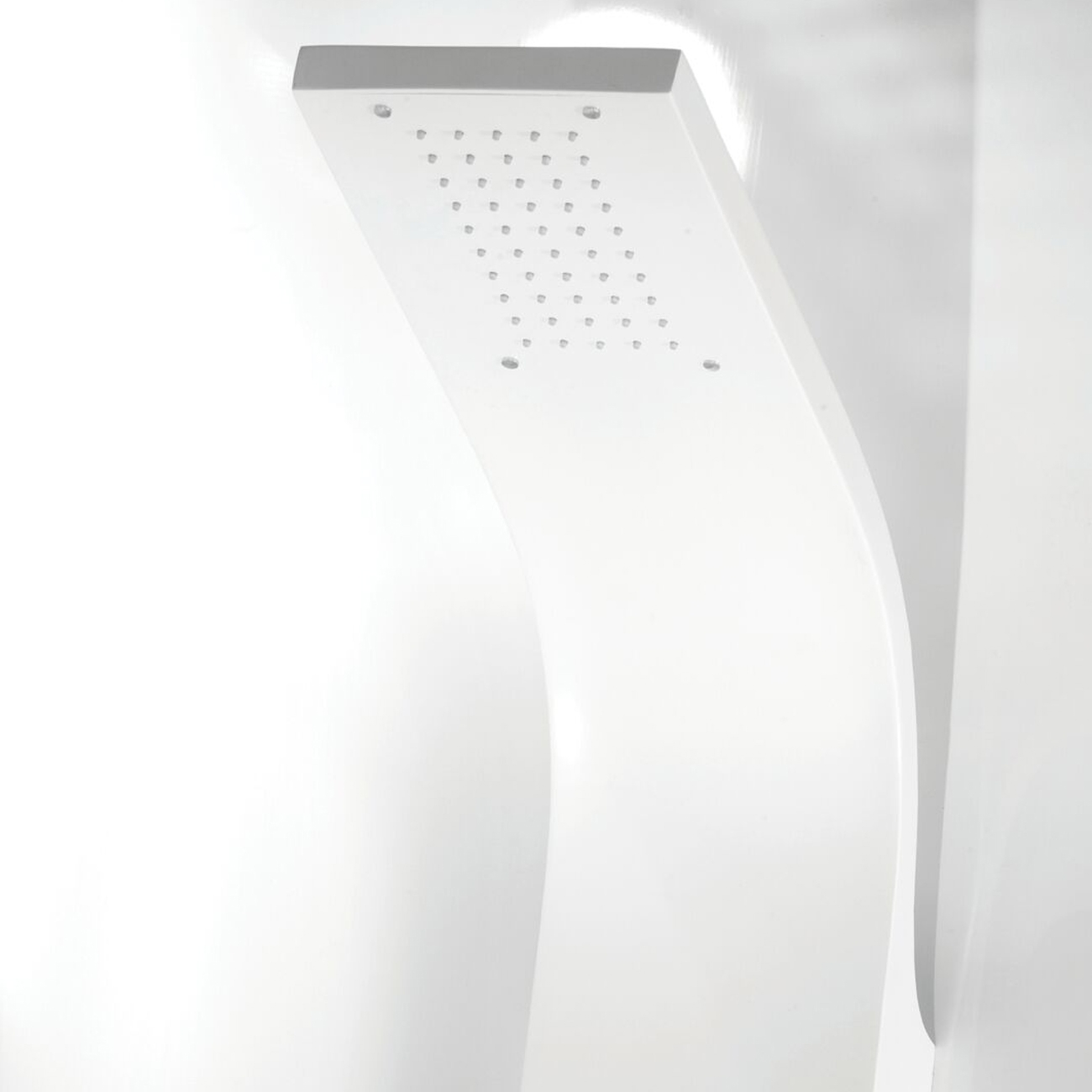 Cali Luna Thermostatic Shower Panel - White-3