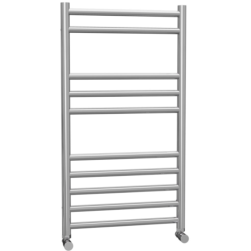 Cali Luxe Straight Heated Towel Rail 800mm H x 450mm W Stainless Steel