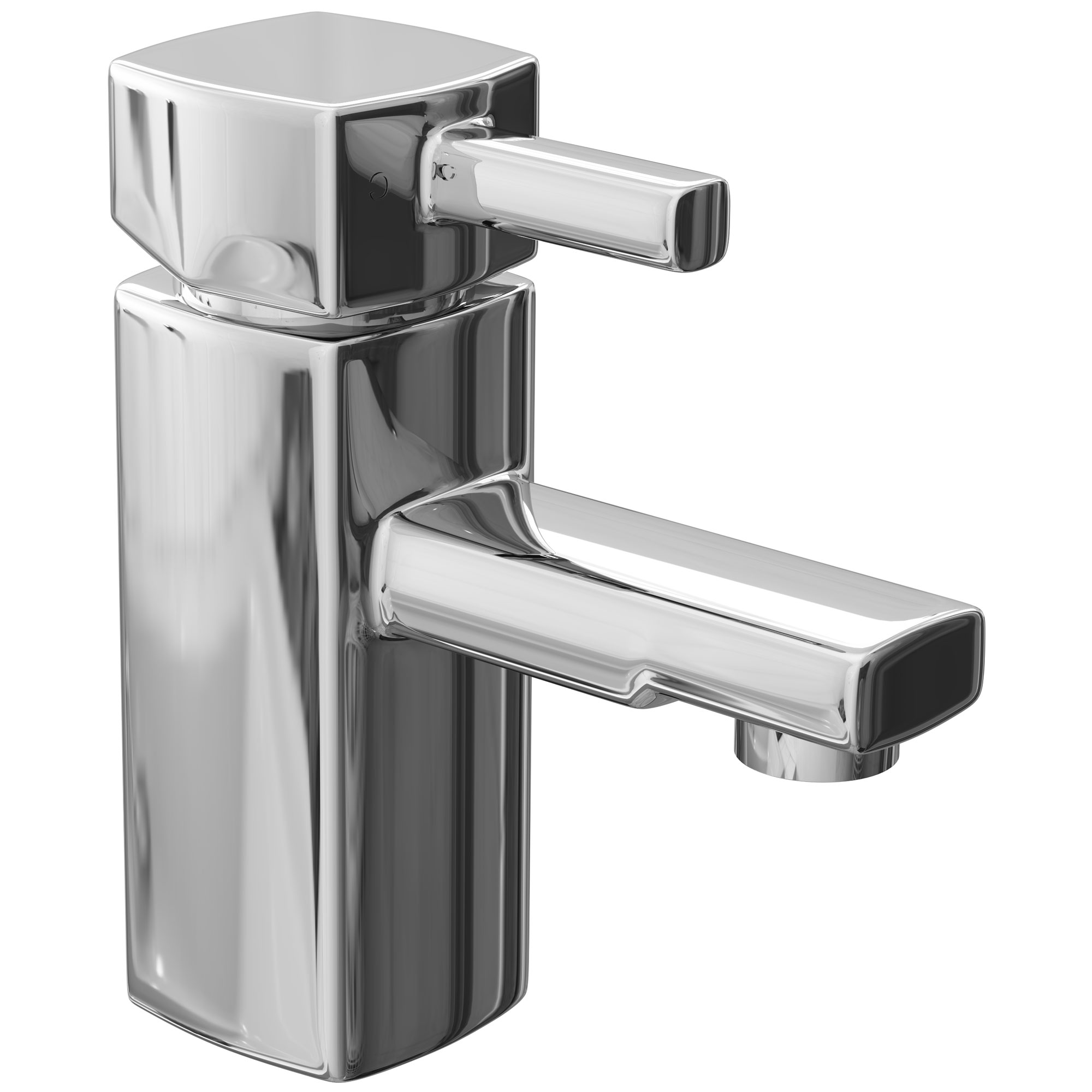 Cali Nero Mono Basin Mixer Tap Deck Mounted with Click Clack Waste - Chrome