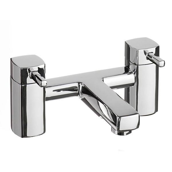 Cali Nero Bath Filler Tap - Deck Mounted - Chrome