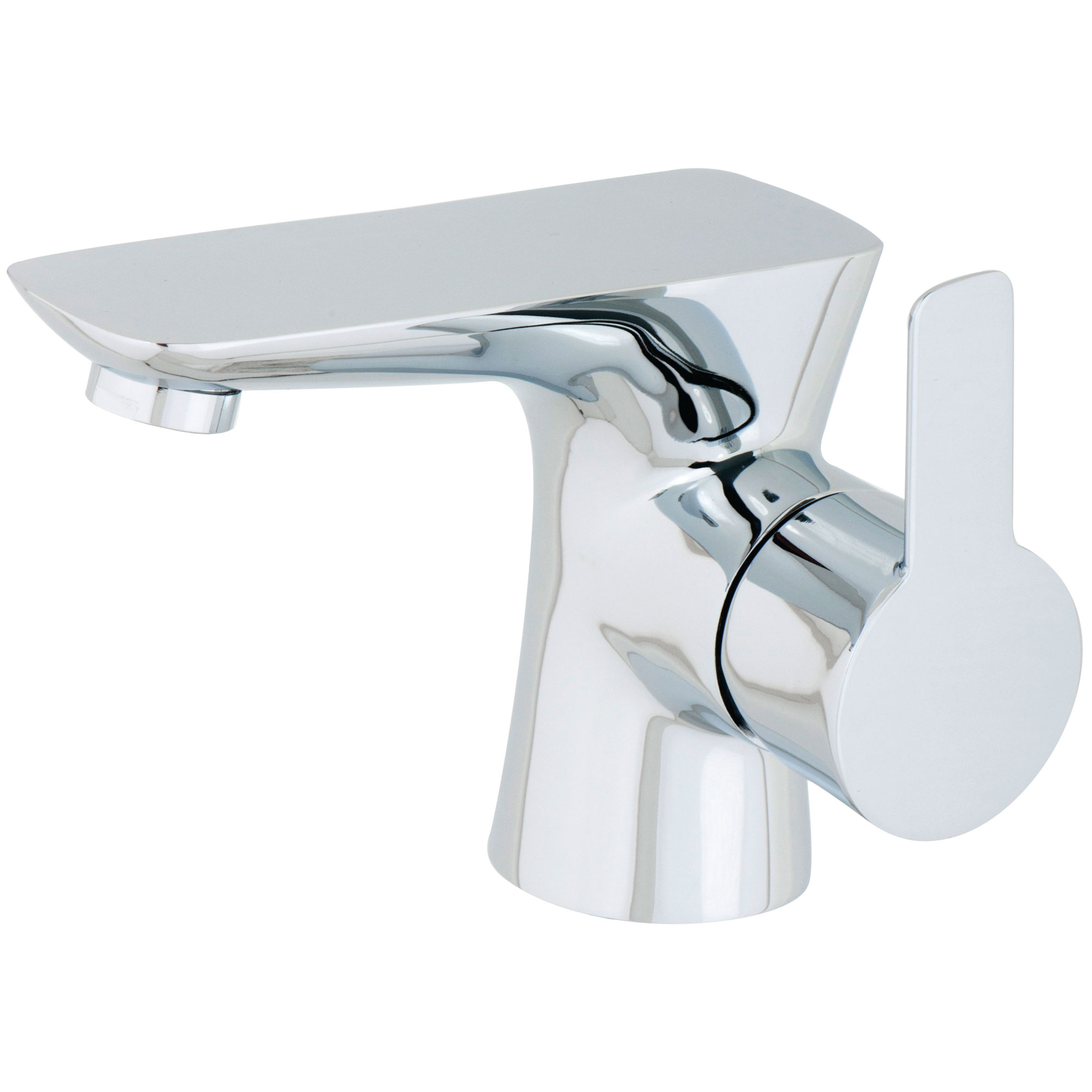 Cali Pedras Mono Basin Mixer Tap Deck Mounted with Click Clack Waste - Chrome