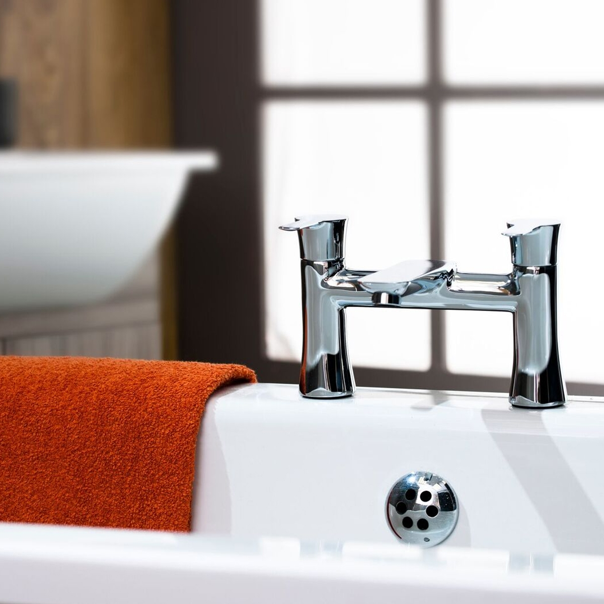 Cali Pedras Bath Filler Tap - Deck Mounted - Chrome