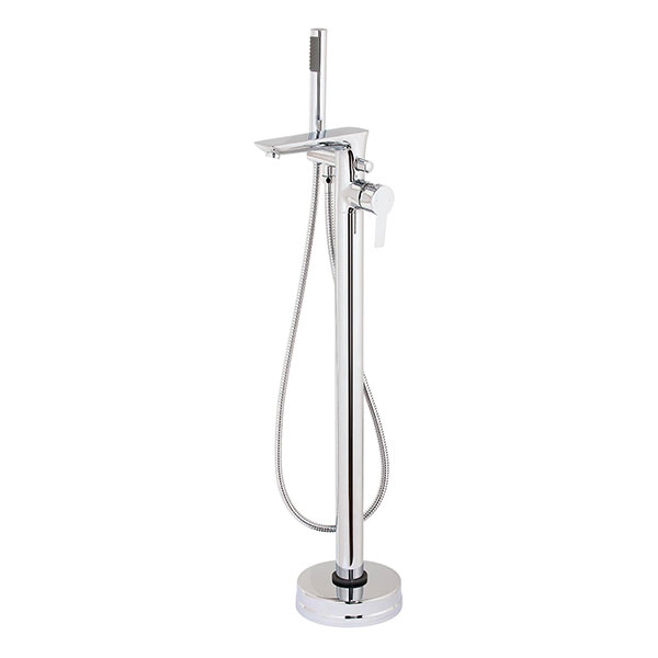 Cali Pedras Free Standing Bath Shower Mixer Tap - Chrome