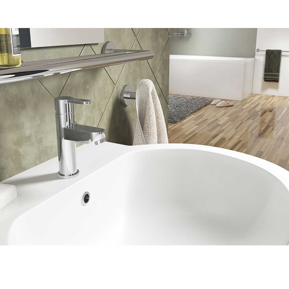 Cali Roma Mono Basin Mixer Tap - Deck Mounted - Chrome