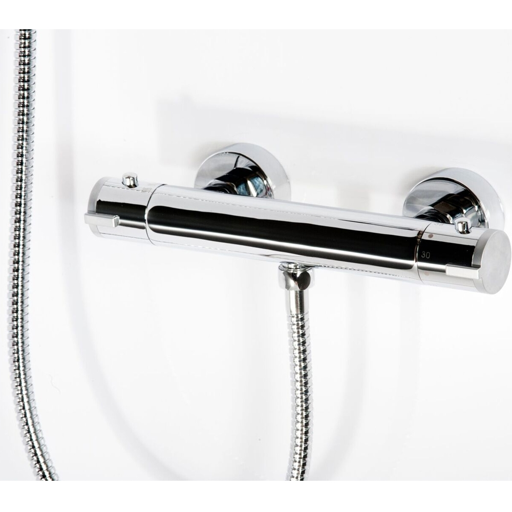 Cali Round Thermostatic Bar Valve - Chrome